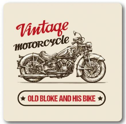 Vintage Motorcycle Old Bloke And His Bike Metal Wall Sign